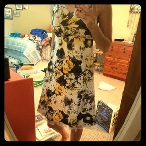 Dresses & Skirts - Yellow, white, amd black floral dress